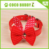Small dog cat leather bow tie collares teddy leather collar 6 colors on sale