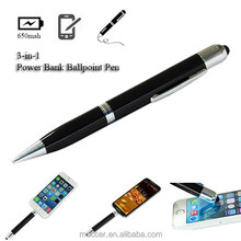 Guangdong factory ball pen,stylus pen power bank for mobile phone
