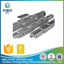 CSD professional solid cotter streight plate long pitch 203.2 sugar mill roller carrier chain manufacturer