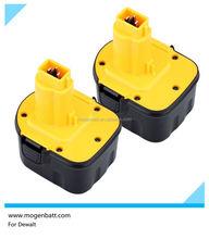12v rechargeable battery for dewalt Power tool battery For Dewalt ni-cd ni-mh DW053K DW053K-2
