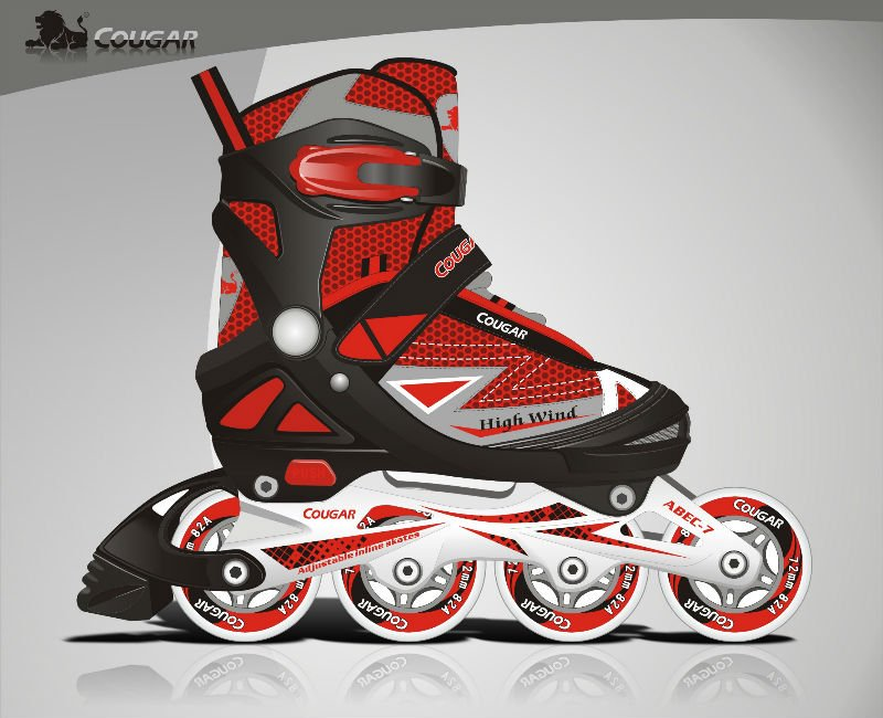 Cougar vr11-e, enfants de hockey inline skate, patins à roulettes, enfants chaussures à roulettes.