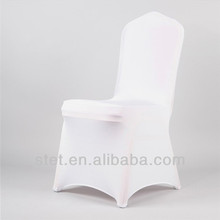 Wholesale white high quality round lycra cheap spandex chair cover banquet chair cover wedding decoration