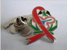 Custom Colorful Bird and Ribbon Metal Lapel Pin Badge