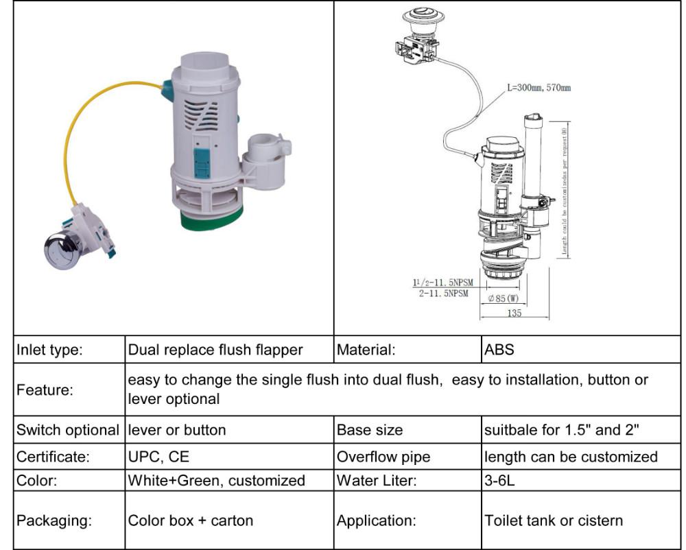 Smart Toilet Flush Valve Repair Kit! Change flapper to UPC Dual Flush Toilet Valve