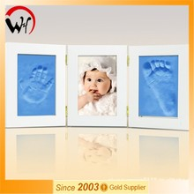 Unique gift handprints footprint baby photo frame
