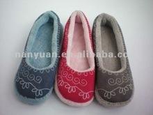 2012 women embroidary ballerina dancing shoe