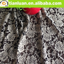 floral pierced cotton and nylon lace fabric for garment