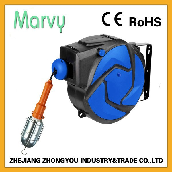 Automatic Retractable Extension 15m Plastic Hose Reel With Lamp - Buy