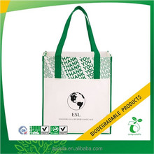 green and designer shopping Restaurant Promotional non woven Bags