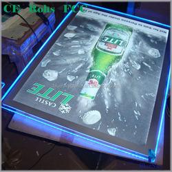led crystal picture light frame for beer advertisement promotion