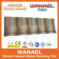 Roman Wanael factory sale low cost stone coat roof tile,no need roof tile paint