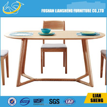Industrial metal dining table legs/stainless steel table base solid wood dining table DT007
