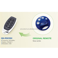 compatible with Nice smilo QN-RS039x rolling code 433mhz rf remote control