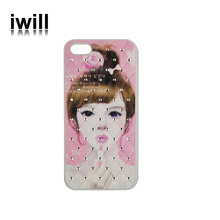 Luxury oil paintings 3D hard case for iphon5/5s with diamond