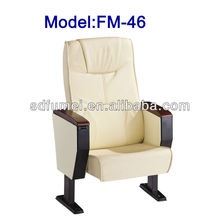 Fixed lecture room auditorium seat with table FM-46