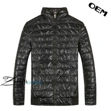 Men fashion PU leather men winter jacket