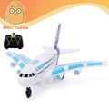 Avion airbus a380 avec de la musique et l'éclairage 4 ch jouets rc avion meilleur cadeau pour les enfants