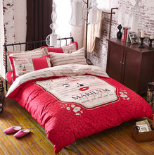 hot sale full size child quilt bed sheet, bed cover
