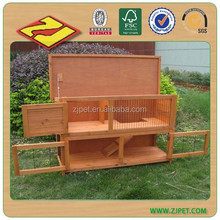 Small Animal Pet Cage 2-Story Wooden Rabbit House Wood Hutch DXR016