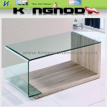 Bent Tempered Glass Coffee Tables