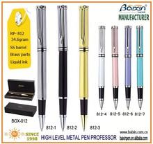 High Level Custom Metal Roller Tip Pen With Gift Box, RP-812