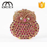 2015 new product elegant evening bags owl bags for women crystal evening clutch bag TY767