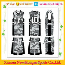 Fashionable new style 2015best basketball uniform design