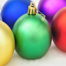 48 (2x24) Apple Green Mix Shatterproof Baubles 30mm Christmas Tree Decorations
