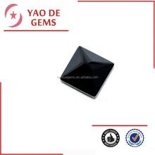 Forma quadrata 5*5mm nero semi- pietra preziosa cubic zirconia gioielli di corallo nero