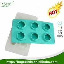 Diamond shape Food grade customed silicon ice tray/silicone ice cube tray