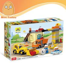 Hot sale 3D kid toy 72 pcs project story construction plastic building blocks