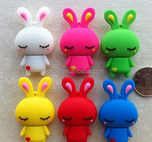 Customized logo soft PVC cute rabbit USB Flash Drive 1gb 2gb 4gb 8gb 16gb 32gb 64gb