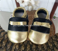 2015 new fashion design animal pattern baby genuine leather shoes kids handmade moccasins