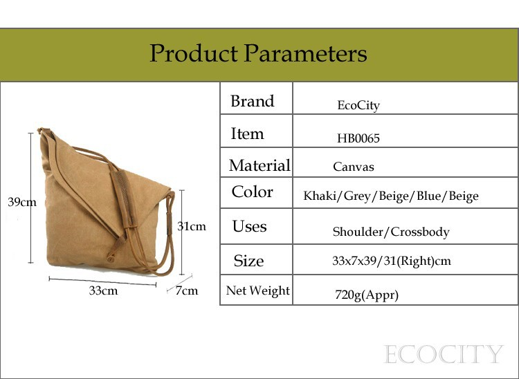 EcoCity Women Messenger Bags,Genuine Leather Canvas Desigual Bag