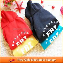 wholesale factory cheap multicolor comfortable 100% cotton FBI dog clothes