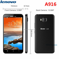 Free shipping Lenovo A916 4G LTE Mobile Phone MTK6592 Octa Core 1GB RAM 8GB ROM 5.5 inch 1280x720 Android 4.4 smart cellphone