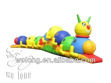 inflatable jump playground, caterpillar tunnel toy