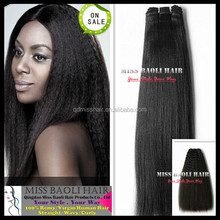 Ali Trade Assurance Paypal Accepted Natural Black Dyeable Quick Delivery Factory Price Virgin Indian Yaki Perm Human Hair