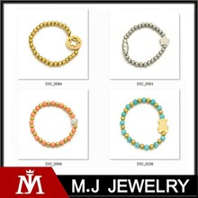 316L Stainless Steel Bead Chain ID Charms Beads Bracelet