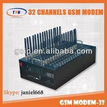 Hot selling 32 port gsm module tc35 for sending bulk sms/mms of gsm modem