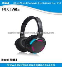 500M LED light wireless headphone for silent disco with two or three channels RF988