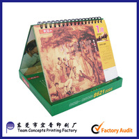 Custom Printing English Arabic Perpetual 2015 Calendar