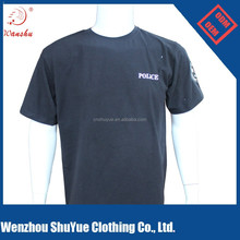 Poly cotton custom man t shirt, custom printing t-shirt, black t shirt
