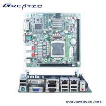 ZC H61DL Socket Corei7/i5/i3/Pentium Processor motherboard with 2 Lan, 9 USB mini itx mainrboard
