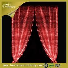 luminous lighting fabric curtains for glass doors