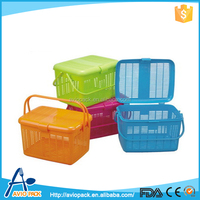 Good quality colorful non toxic plastic fruit basket with lid