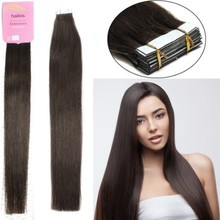 Supply 100% human hair extension double drawn usa walker tape hair dark brown #2