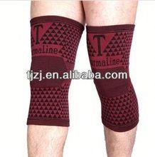 Magnetic fabric long knee brace