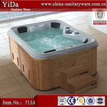 stylish luxury spa bathtub, big size bathtub for family, wooden bathtub price whirlpool tub