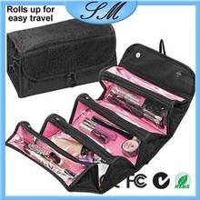 4 in 1 Cosmetic Bag Roll-N-Go Foldable Travel Pouch Cosmetic Bag